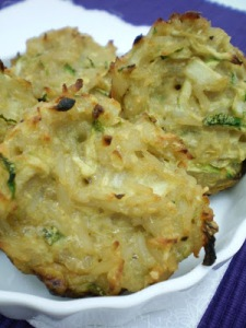 Bolinhos de arroz e abobrinha_assados
